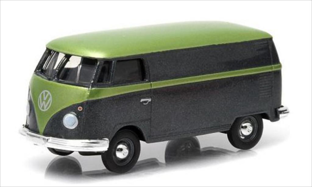Volkswagen T1 1/64 Greenlight Kasten metallise black/metallise grun diecast model cars