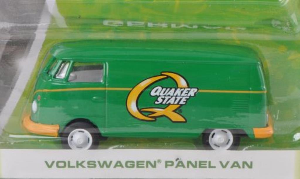 Volkswagen T1 1/64 Greenlight Kasten Quaker State miniatura