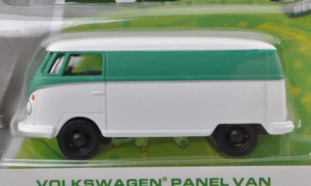 Volkswagen T1 1/64 Greenlight Kasten blanche/matt-turkis miniature