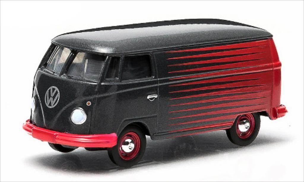 Volkswagen T1 1/64 Greenlight Kastenwagen gray/red diecast