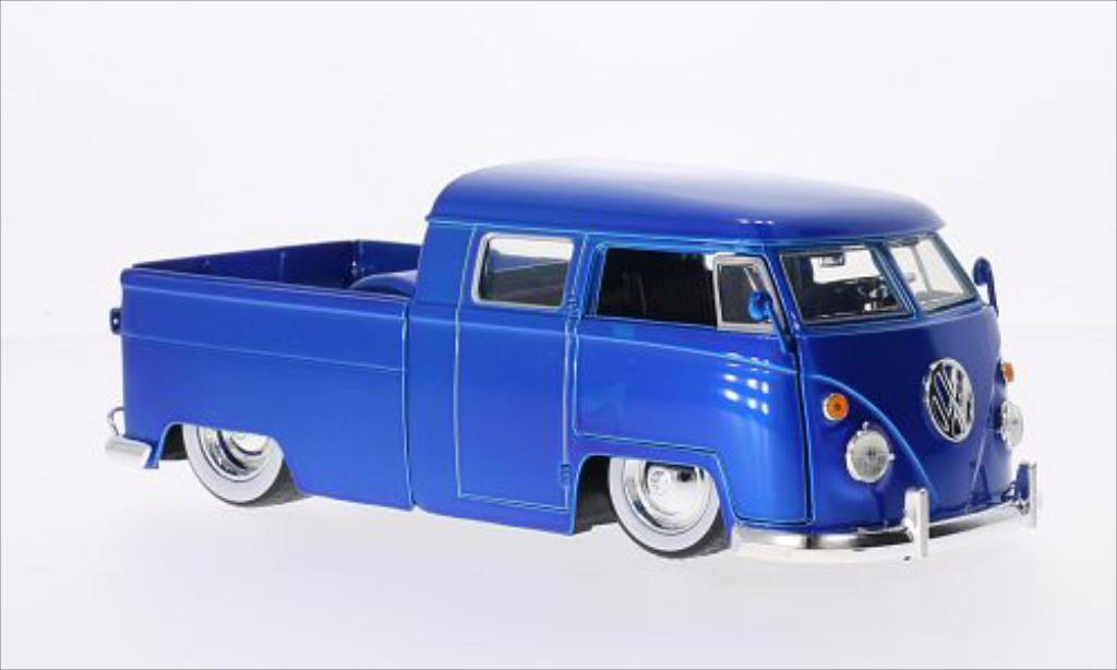 Volkswagen T1 1/24 Jada Toys Toys Pickup Tuning bleu 1963 modellautos