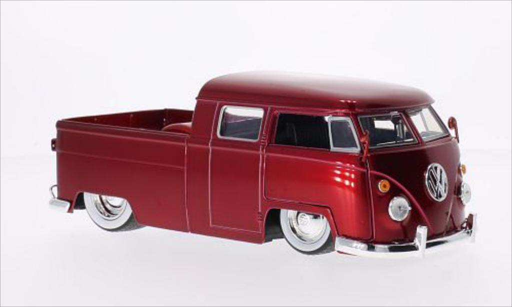 Volkswagen T1 1/24 Jada Toys Pickup Tuning rouge 1963 miniature