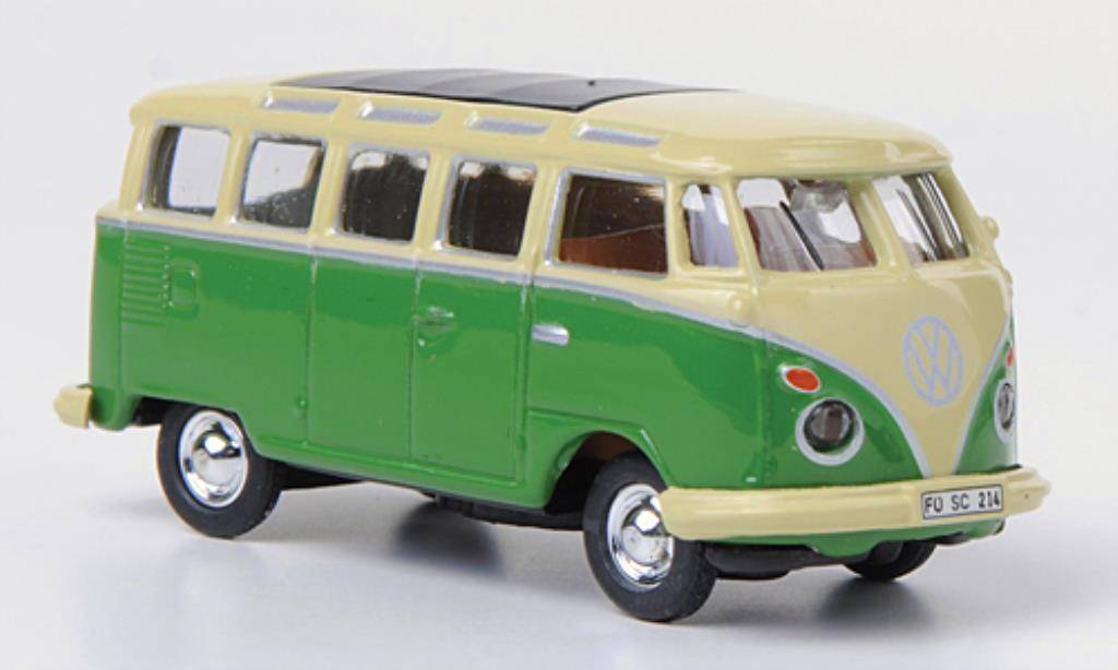Volkswagen T1 1/87 Schuco Samba Bus beige/grun diecast model cars