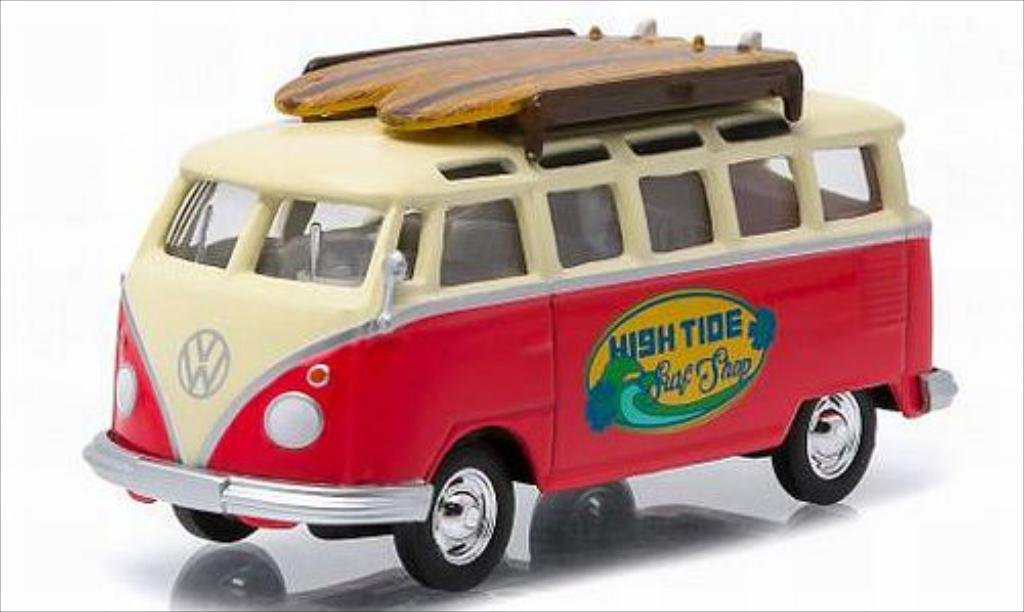 Volkswagen T1 1/64 Greenlight Samba High Tide Surf Shop diecast model cars