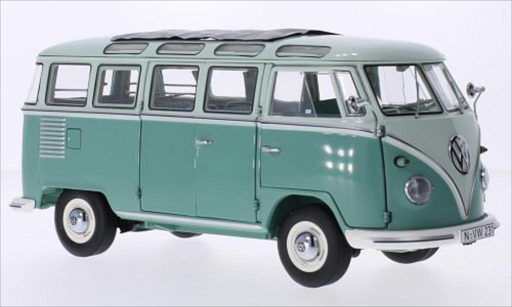 Volkswagen T1 1/18 Schuco Samba turquoise/beige 1959 diecast