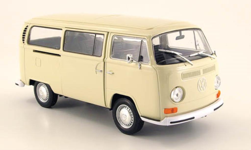 Volkswagen T2 1/24 Welly Bus beige 1972 diecast
