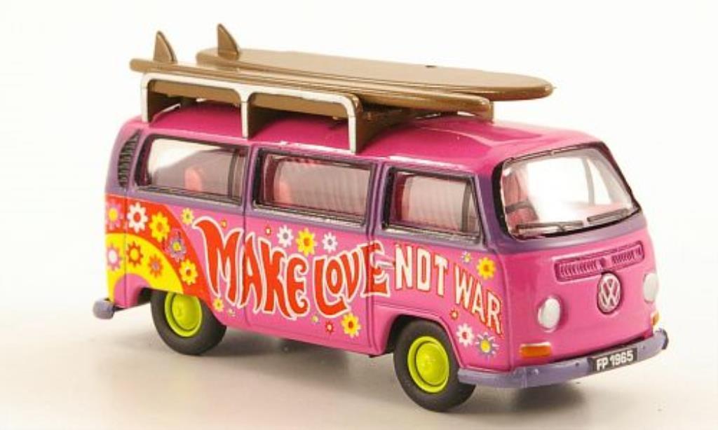 Volkswagen T2 1/76 Oxford Bus Peace mit Surfbrettern diecast