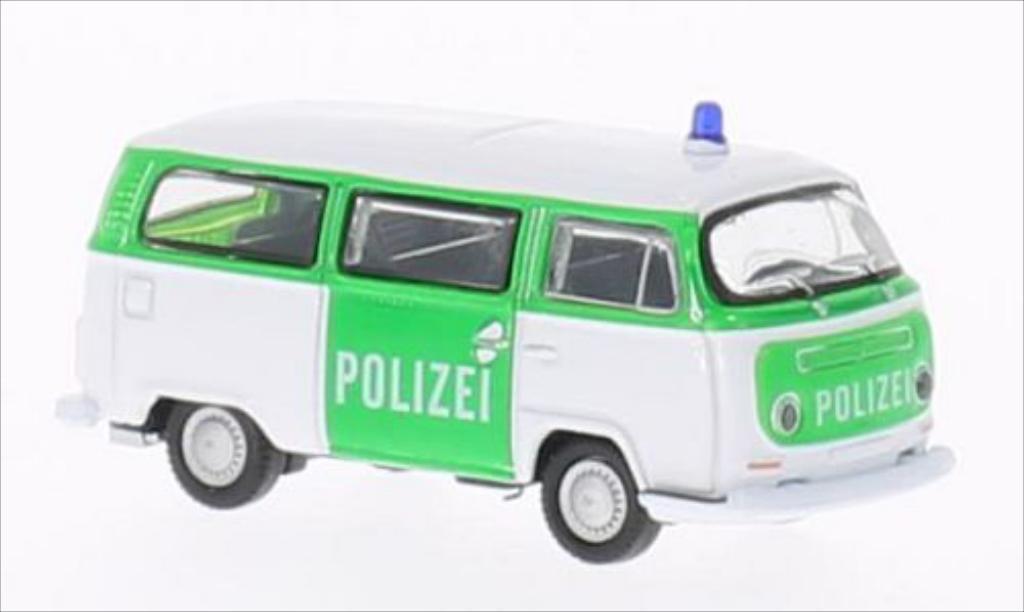Volkswagen T2 1/87 Welly Bus Polizei 1972 diecast