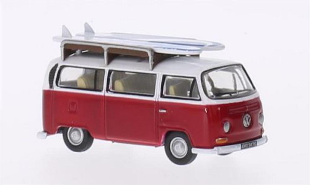 Volkswagen T2 1/76 Oxford Bus rouge/blanche RHD miniature