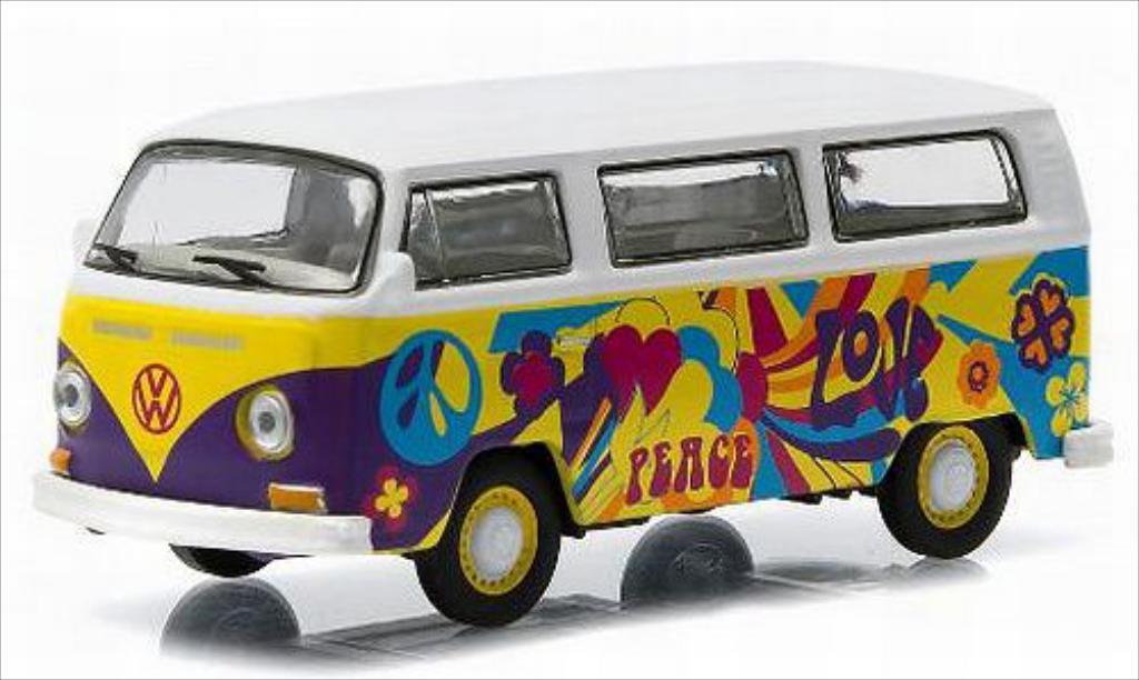 Volkswagen T2 1/64 Greenlight Bus blanche/Dekor 1968