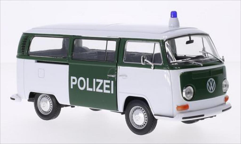 Volkswagen T2 1/24 Welly Bus white/green Polizei 1972 diecast