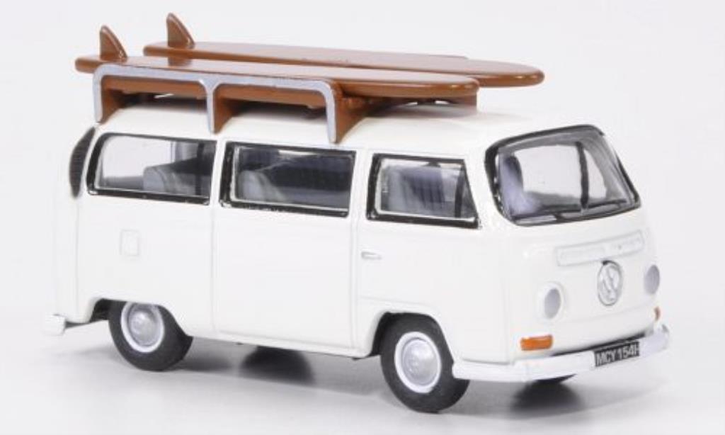 Volkswagen T2 1/76 Oxford Bus white mit Surfbretter diecast