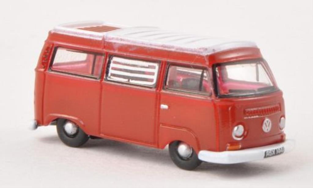 Volkswagen T2 1/148 Oxford Camper rouge/blanche miniature