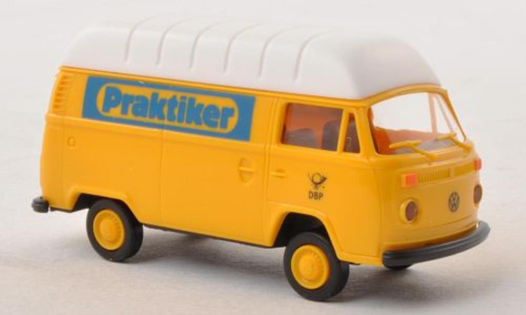 Volkswagen T2 1/87 Brekina Hochdach-Kasten Praktiker - Deutsche Bundespost miniature