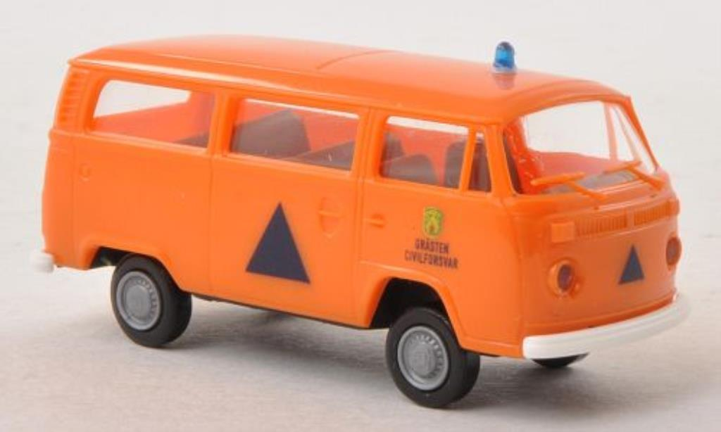 Volkswagen T2 1/87 Brekina Kombi Grasten Civilforsvar (DK) miniature