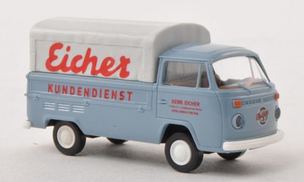 Volkswagen T2 1/87 Brekina Pritsche Eicher Kundendienst diecast