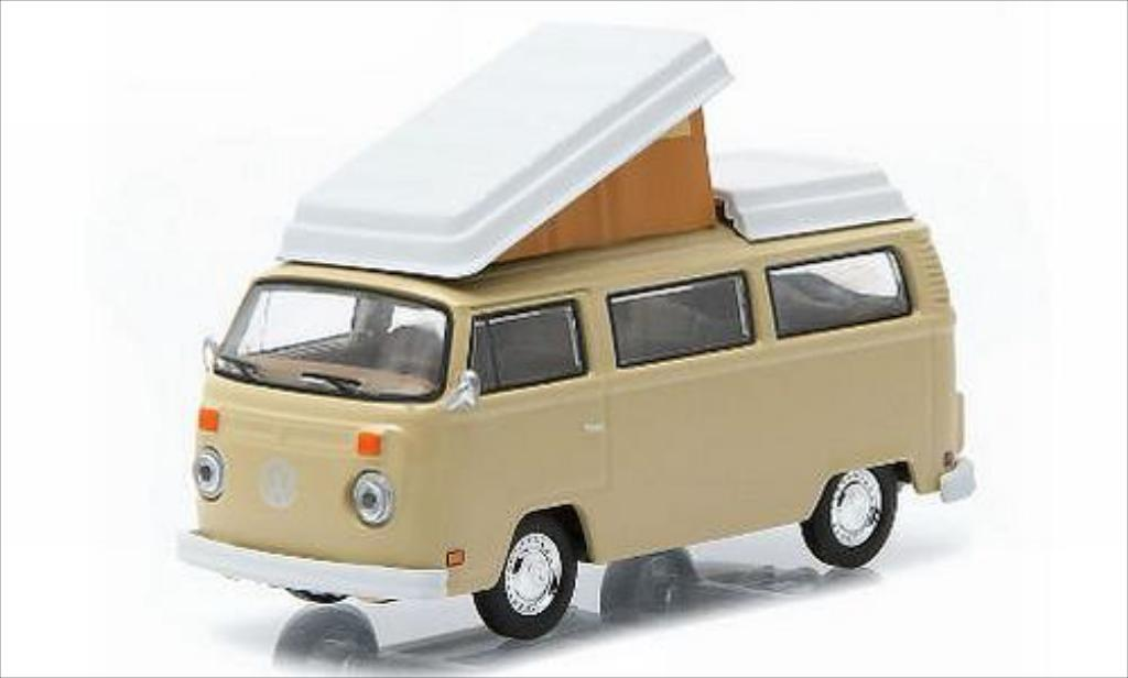 Volkswagen T2 1/64 Greenlight Westfalia beige 1970 miniature
