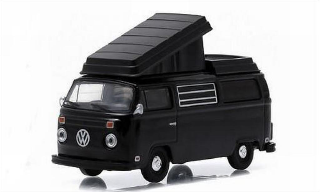 Volkswagen T2 1/64 Greenlight Westfalia noire 1973 miniature