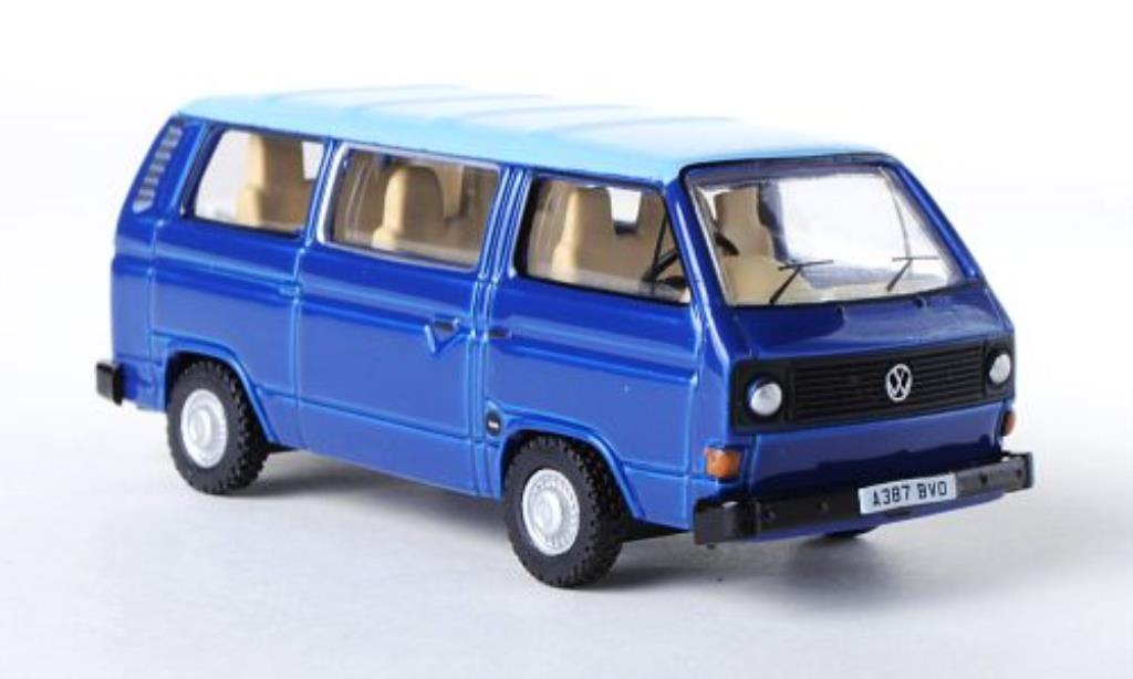 Volkswagen T3 1/76 Oxford Bus bleu/bleu RHD miniature