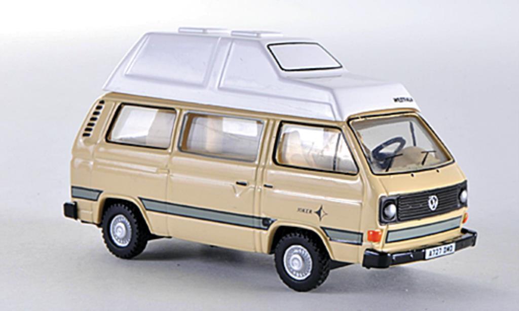 Volkswagen T3 1/76 Oxford Joker Hochdach beige LHD diecast