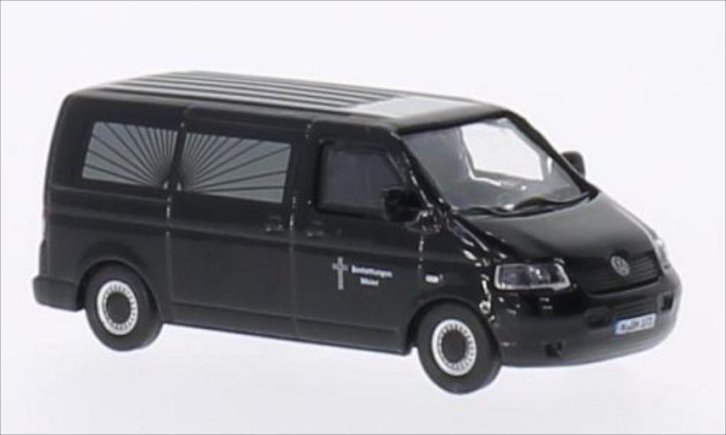 Volkswagen T5 1/87 Schuco Bestattungswagen Meier noire miniature