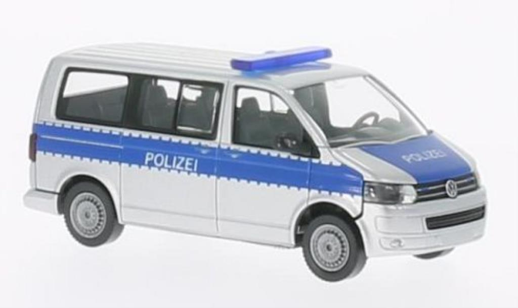 Volkswagen T5 1/87 Wiking GP Multivan Polizei miniature