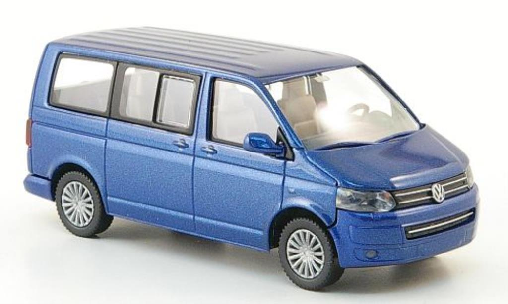 Volkswagen T5 1/87 Wiking Multivan bleu miniature