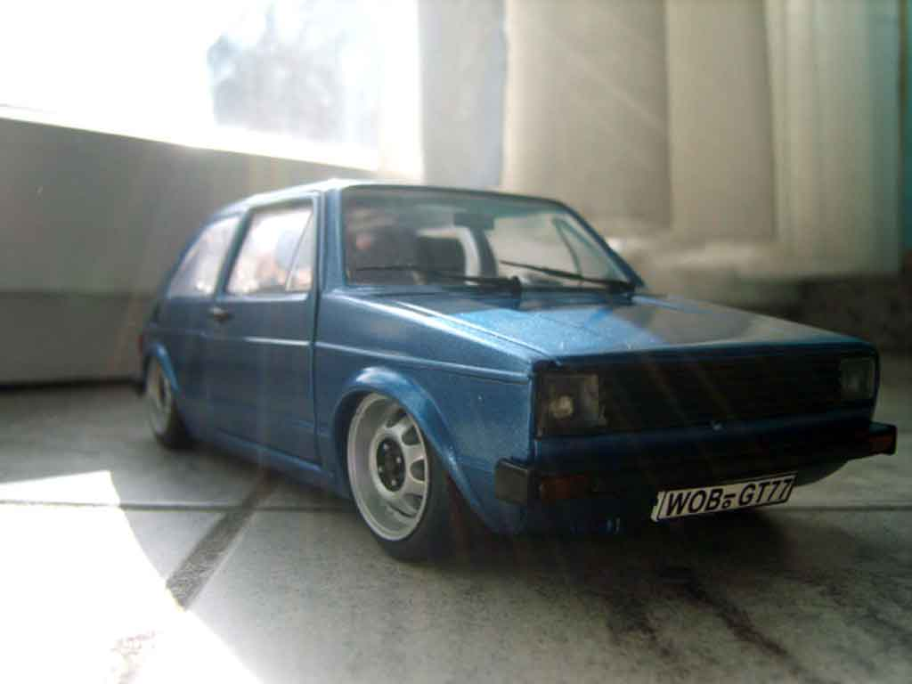 Volkswagen Golf 1 GTI 1/18 Solido calandre phare us et jantes ats diecast