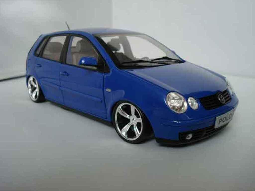 Volkswagen Polo 1/18 Anson 9n bleu jantes 14 pouces miniature