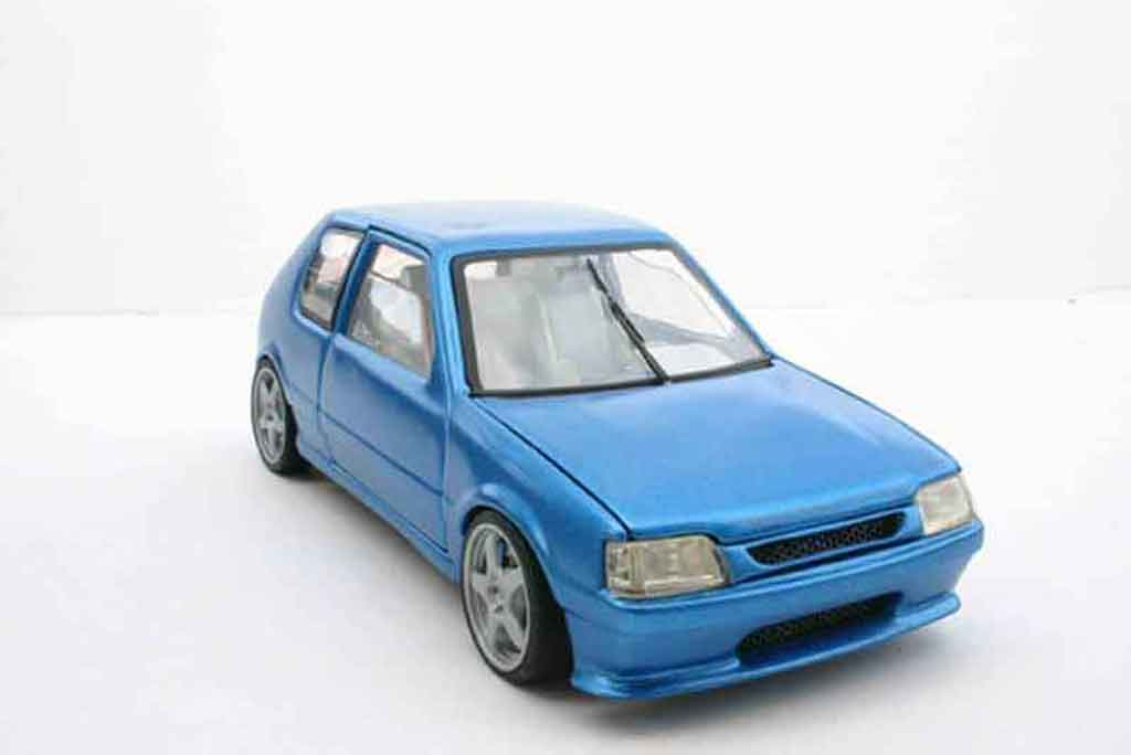 Peugeot 205 GTI 1/18 Solido blue tuning diecast model cars