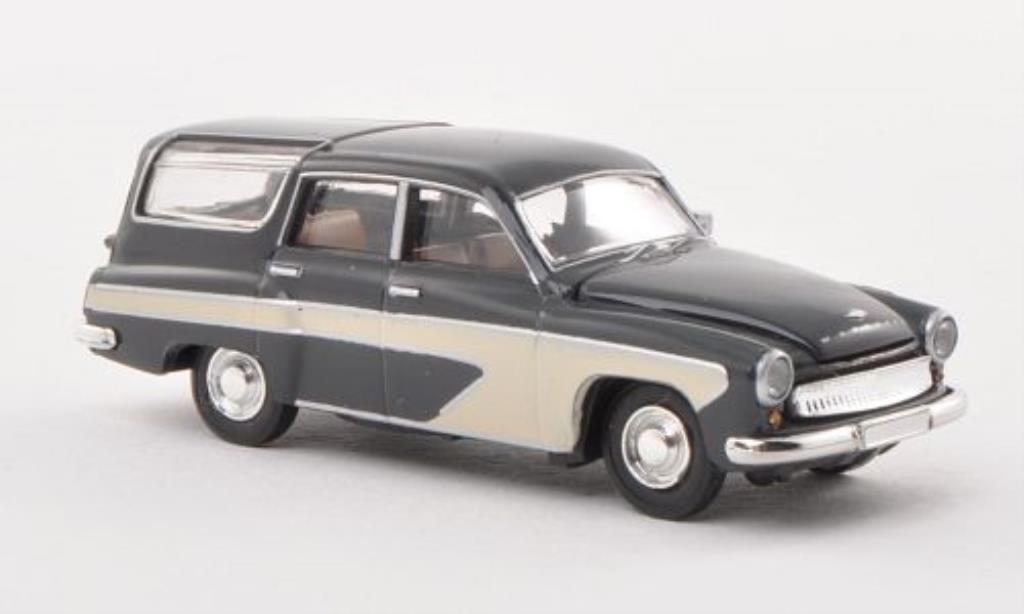 Wartburg 311 1/87 Brekina Camping grise/beige miniature