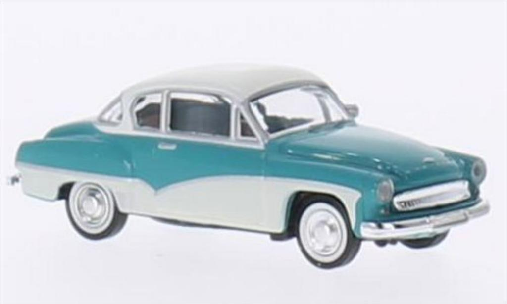 Wartburg 311 1/87 Brekina Coupe turquoise/white diecast