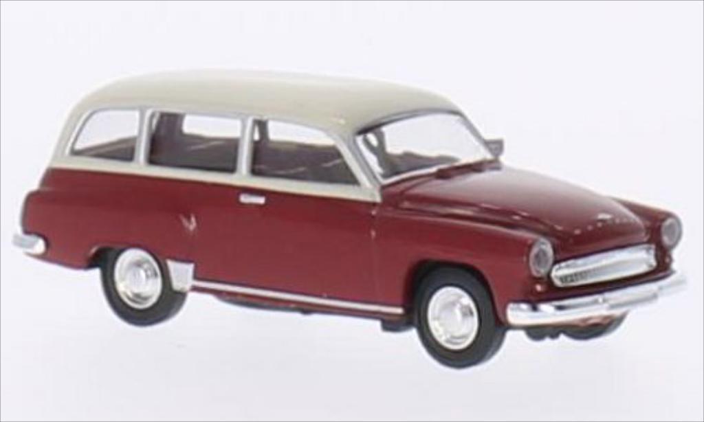 Wartburg 311 1/87 Brekina Kombi rouge/beige miniature