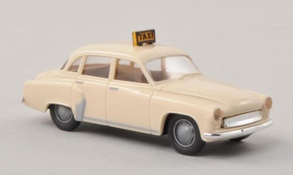 Wartburg 311 1/87 Brekina Taxi beige miniature