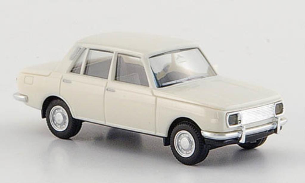 Wartburg 353 1/87 Herpa grise-blanche 1966 miniature