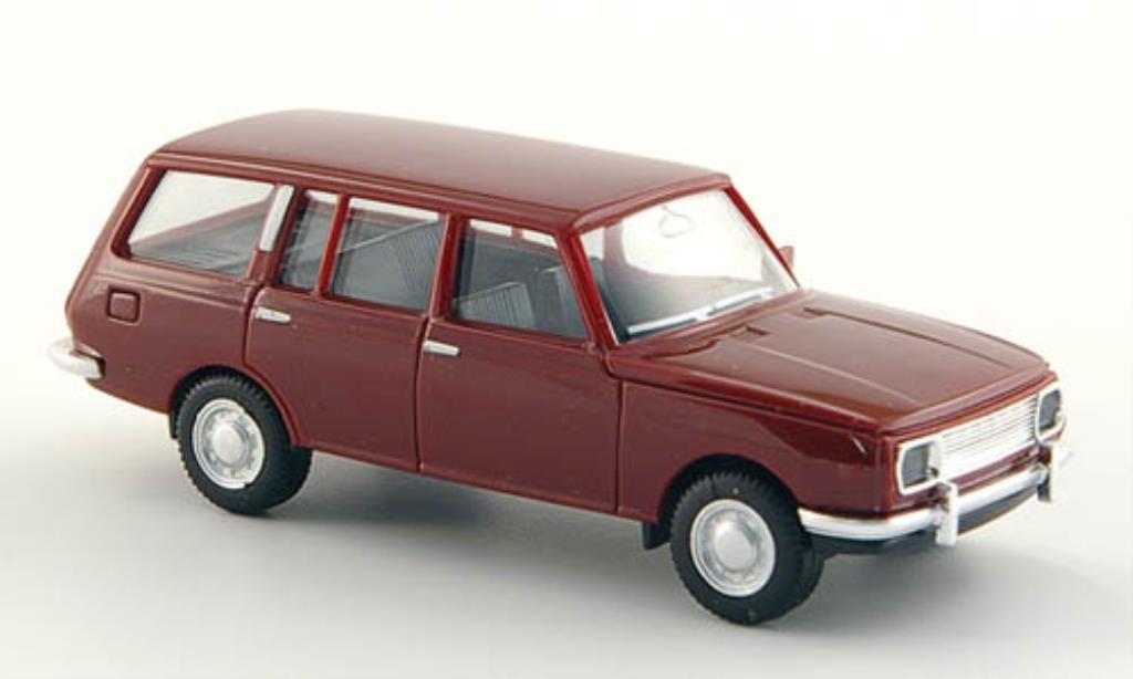 Wartburg 353 1/87 Herpa Tourist rouge miniature
