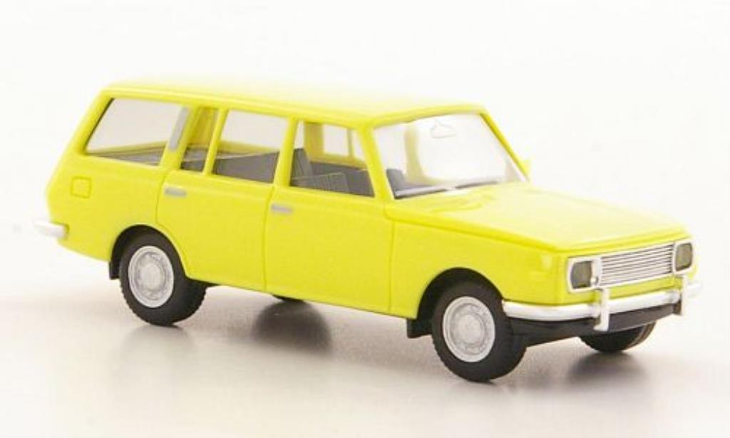 Wartburg 353 1/87 Herpa Tourist jaune miniature