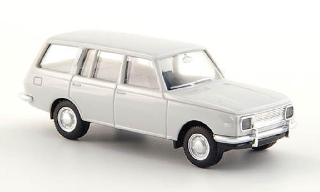 Wartburg 353 1/87 Herpa Tourist blanche miniature
