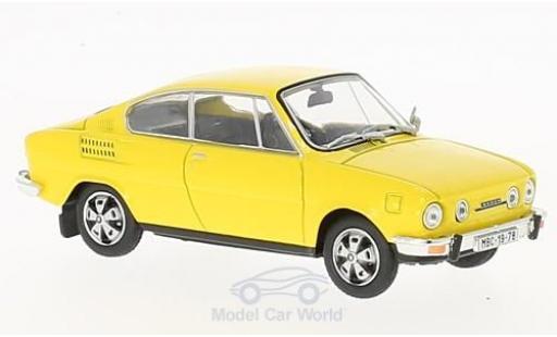 Skoda 110 1/43 Abrex R jaune miniature