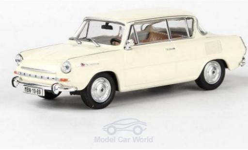 Skoda 110 1/43 Abrex 0MBX beige 1969 miniature