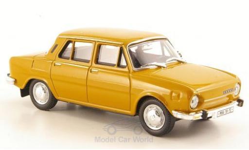 Skoda 110 1/43 Abrex L yellow 1973 diecast