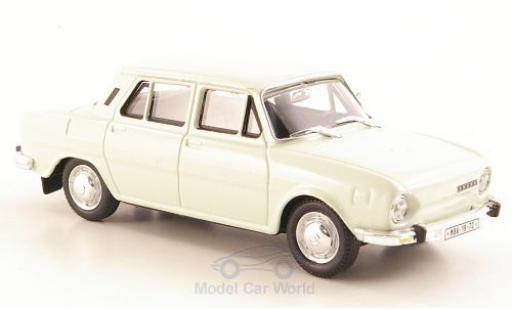 Skoda 110 1/43 Abrex L blanche 1973 miniature