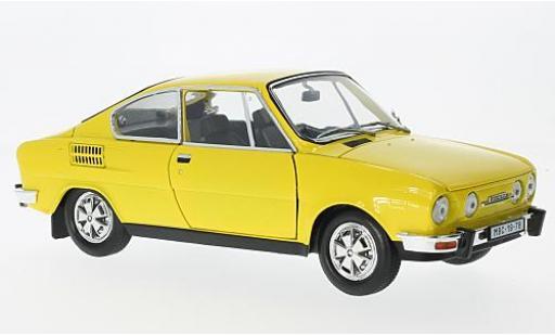 Skoda 110 1/18 Abrex R Coupe jaune 1980 miniature
