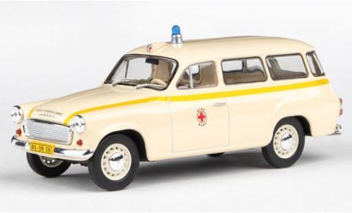 Skoda 120 1/43 Abrex 2 Ambulanz Sanitka Zachranna Sluzba Praha (CZ) 1964 miniature