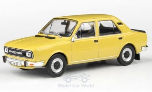 Skoda 120 1/43 Abrex L jaune 1982 miniature