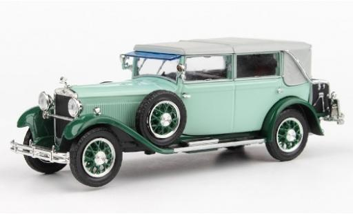 Skoda 860 1/43 Abrex turquoise/verte RHD 1932 miniature