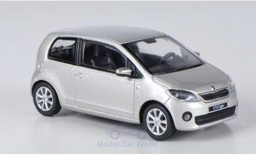 Skoda Citigo 1/43 Abrex metallise grise 2012 3-Türer miniature