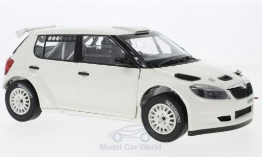 Skoda Fabia 1/18 Abrex II FL S2000 blanche 2010 with Gravel Wheels miniature