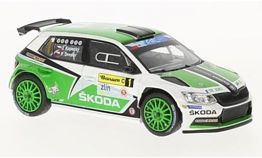 Skoda Fabia 1/43 Abrex III R5 No.1 Barum Rally Zlin 2015 J.Kopecky/P.Dresler miniature