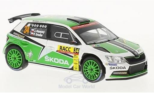 Skoda Fabia 1/43 Abrex III R5 No.34 Rallye WM Rallye Catalunya 2016 J.Kopecky/P.Dresler